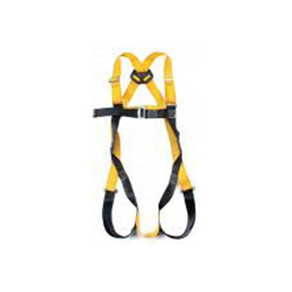 Single pt full bodied safety harness c/w rear & front D-attachment